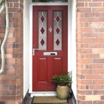 Composite door in red