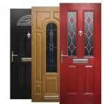 composite doors in different colours