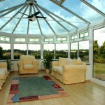 Large glazed conservatory