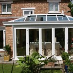 Conservatory with bi-fold doors