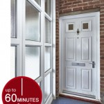 Fire resistant uPVC doors up to 60 minutes fire resistance
