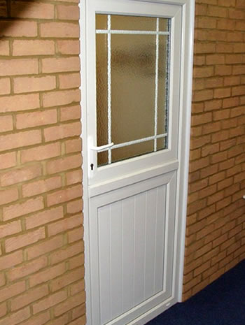 uPVC stable door in white