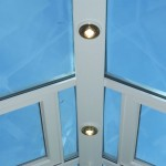 uPVC conservatory roof with spotlights