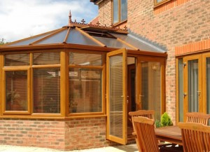 A PVCu conservatory in oak