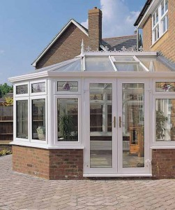 Rehau PVCu conservatory system