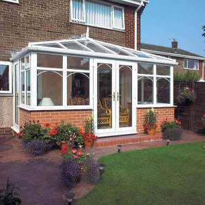 uPVC edwardian conservatory utilising the Synseal Global roof system