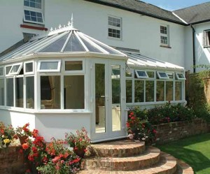 Rehau P-shape uPVC conservatory system