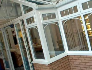T-shape conservatory in the Astraseal showroom
