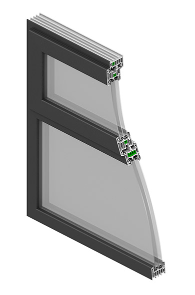 Modus slim sash window